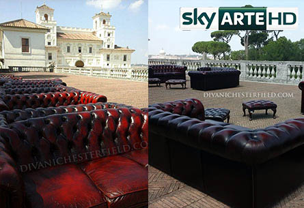 Arredo Chesterfield Evento Sky Master Of Photography - Villa Medici, Roma - Luglio 2016