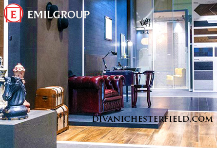 Poltrona Chesterfield Stand EmilGroup Fiera Cersaie, Bologna - Ottobre 2017