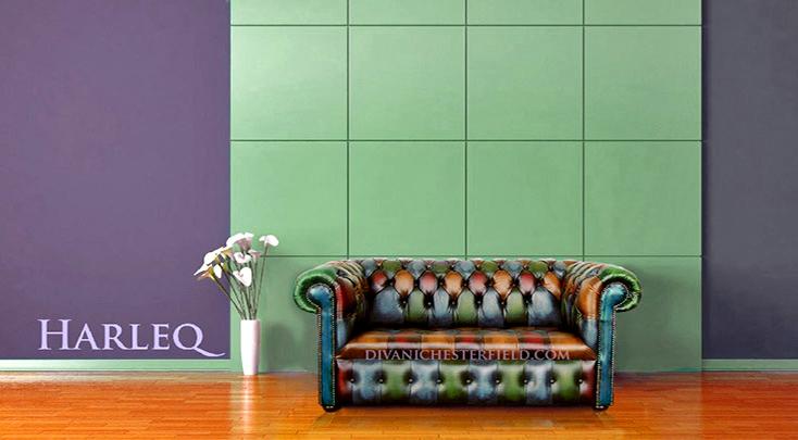 Divano chesterfield arlecchino pelle vintage patchwork for Divani nuovi