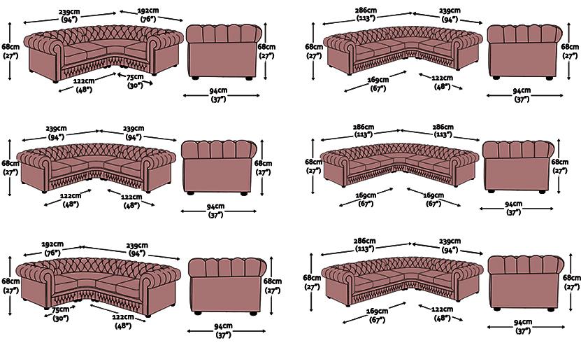 Divano chesterfield angolare divano chester ad angolo su for Misure divano ad angolo