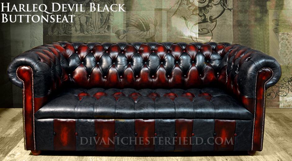 Divano Rosso E Nero : Divano chesterfield vintage nero e rosso patchwork nuovo made in