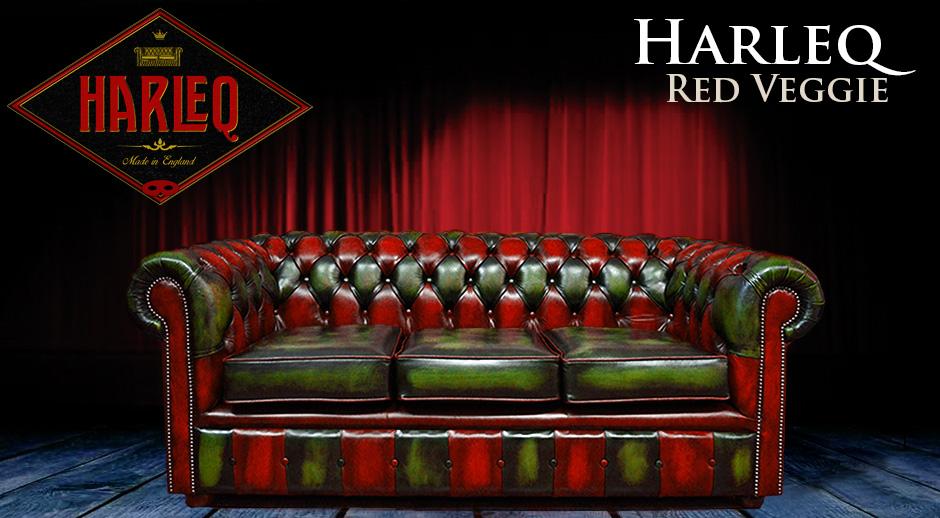 Divano chesterfield moderno in pelle verde e rossa harleq divano chester nuovo made in england - Divano pelle rosso ...