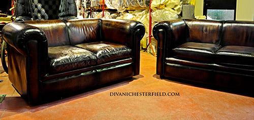 Divani Chesterfield Usati pelle Vintage Chester Originali inglesi ...