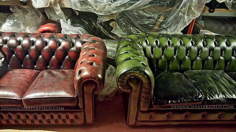 Divani In Pelle Bordeaux.Divani Chesterfield Usati Pelli Vintage Originali Inglesi