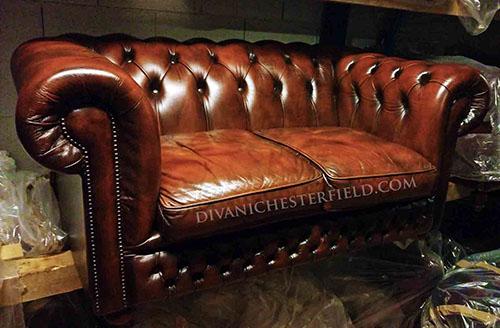 Divani Chesterfield Vintage.Divani Chesterfield Usati Pelli Vintage Originali Inglesi