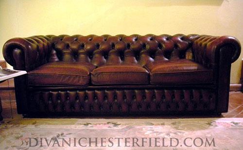 Divano Modello Chesterfield.Divani Chesterfield Usati Pelli Vintage Originali Inglesi