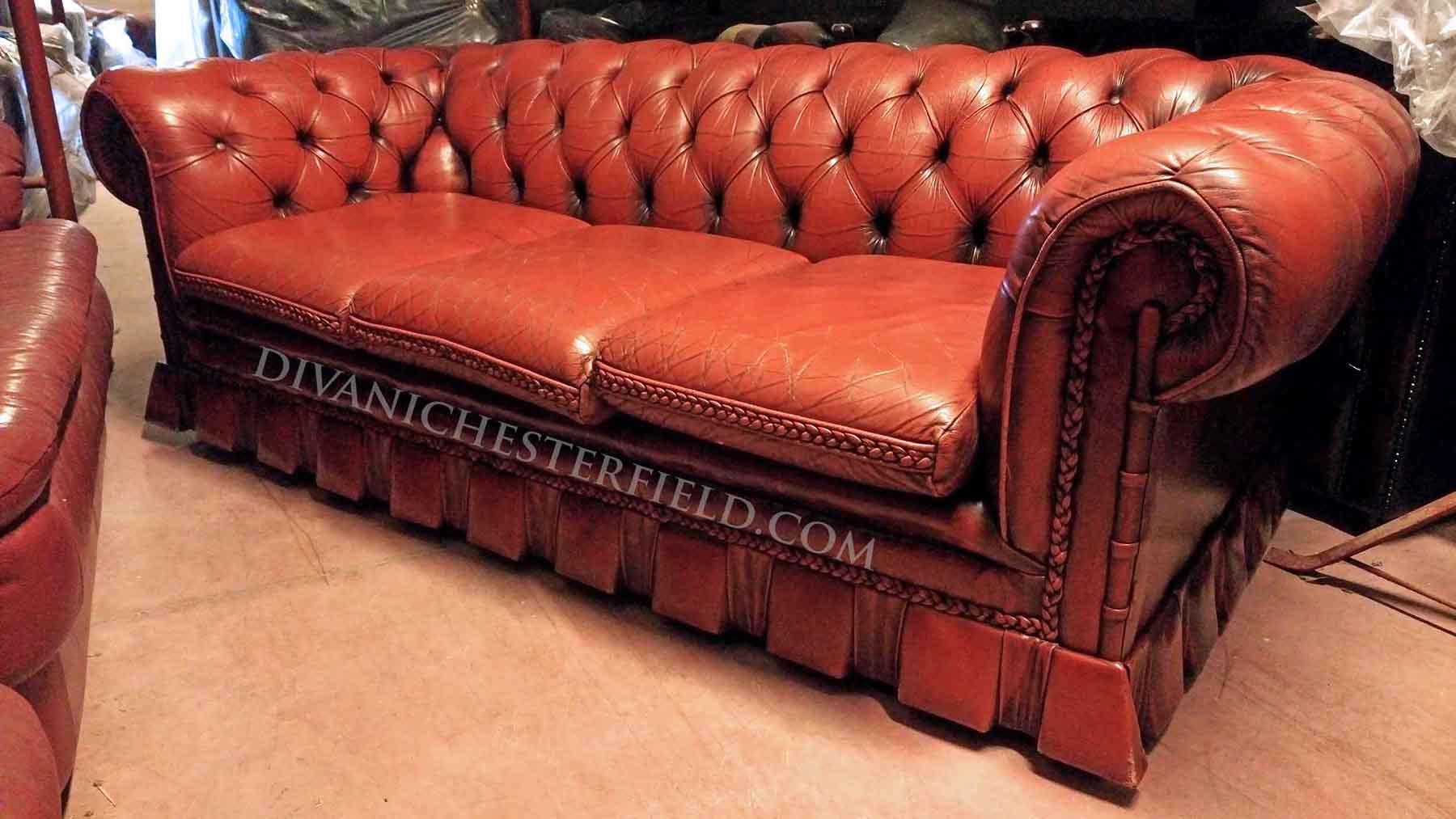 Divani Chester Prezzi : Divani chesterfield usati pelli vintage originali inglesi