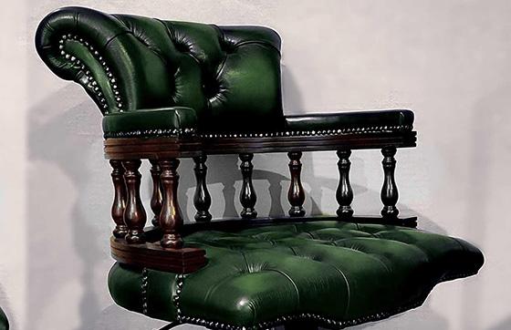 Sedie Da Ufficio In Pelle : Poltrone chesterfield ufficio direzionali in pelle nuove originali