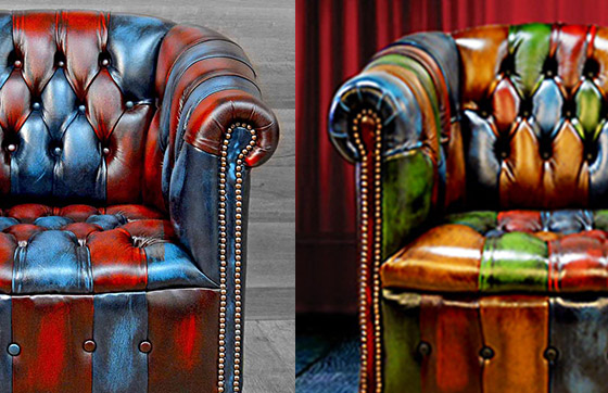poltrona chesterfield vintage patchwork byron