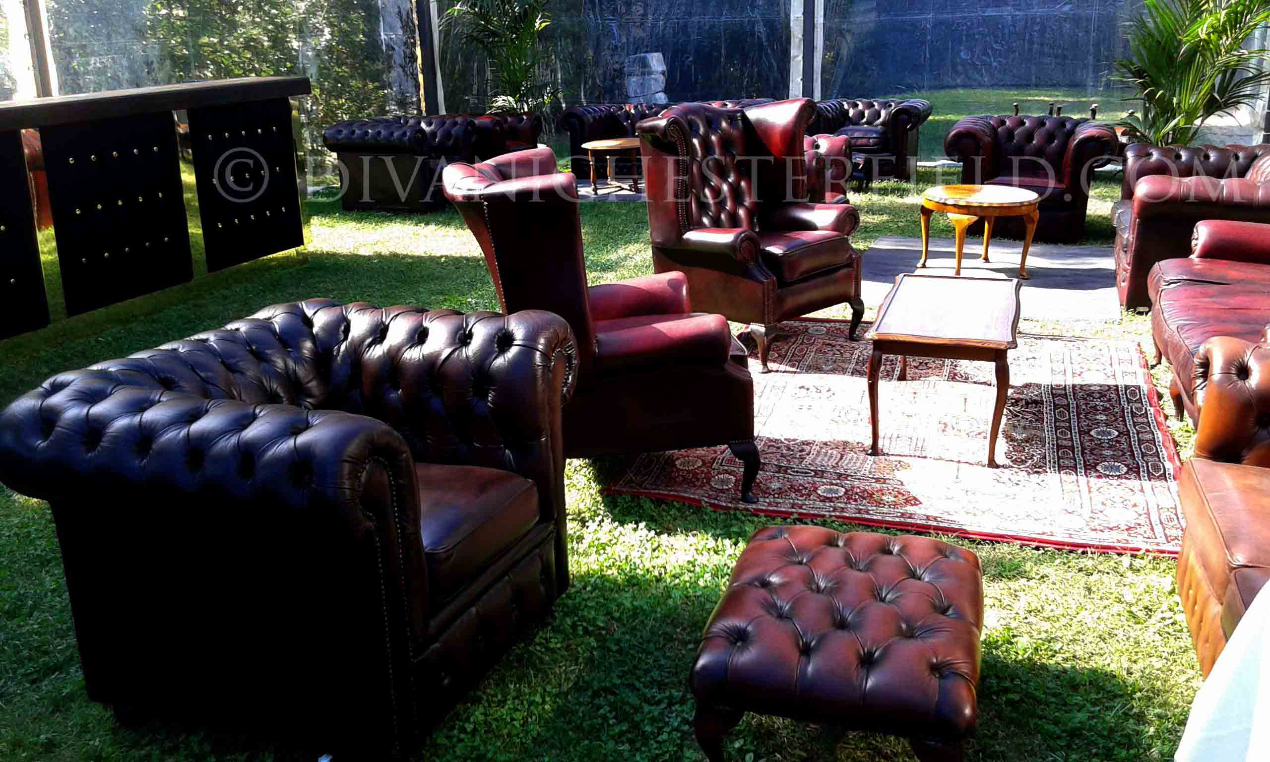 Noleggio affitto potrone chester divani chesterfield eventi for Noleggio arredi per eventi milano