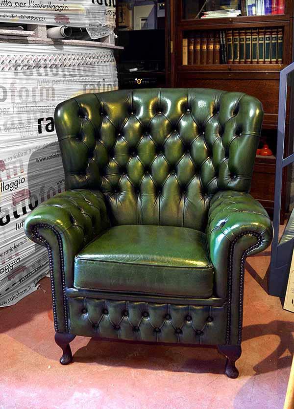 Poltrone Chester Usate Pelle Vintage Originali Vendita Noleggio